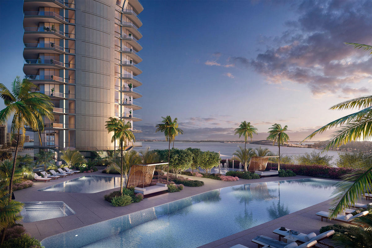 The Brickell luxury condominium is home to a variety of pools.